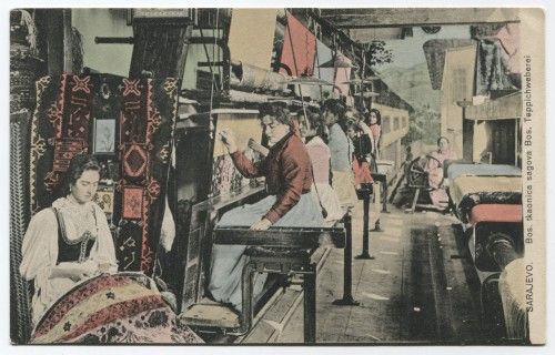 Sarajevo - Manifattura di tappeti (ante 1926)