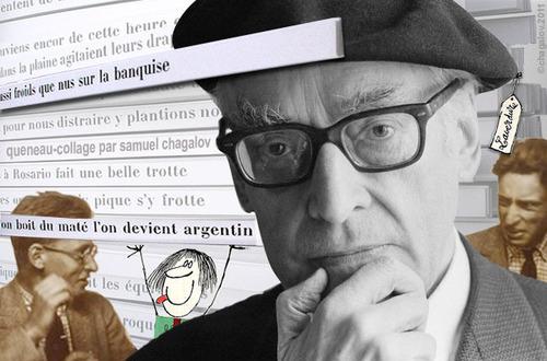 Raymond Queneau (credits  Samuel Chagalov, da una foto Jacques Haillot)